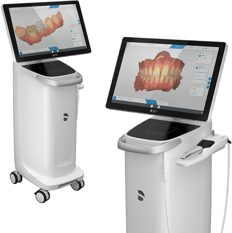 CEREC Primescan and CEREC Omnicam, the powder-free intraoral scanners from Dentsply Sirona.